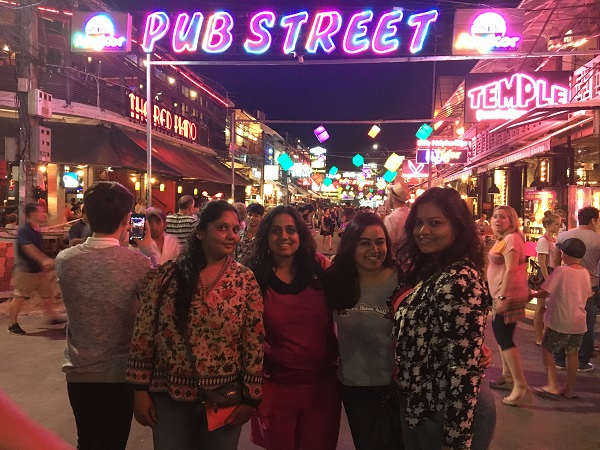 Amazing Cambodia and Thailand Trip - Girl Power at Pub Street Siem Reap