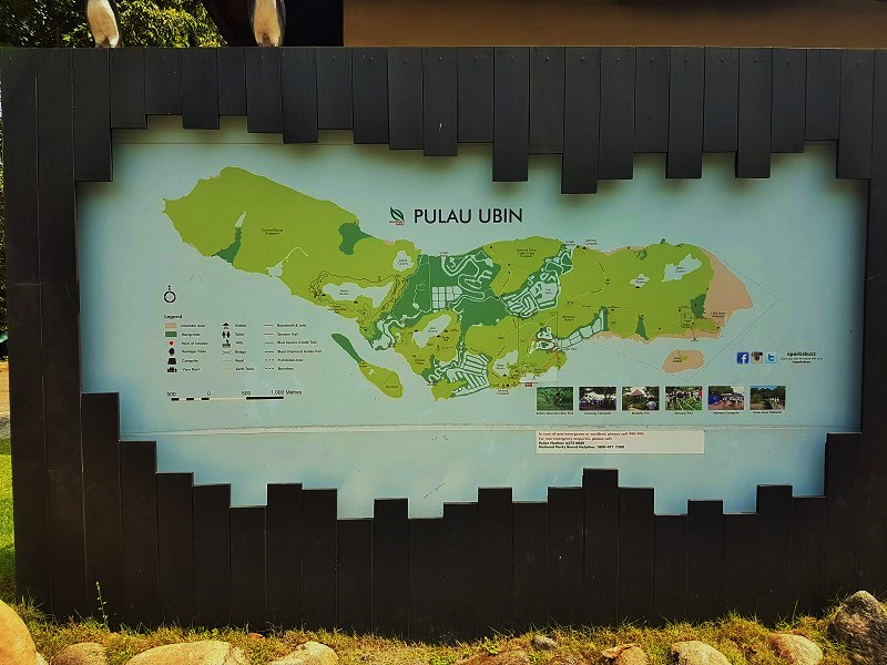 Map of Pulau Ubin