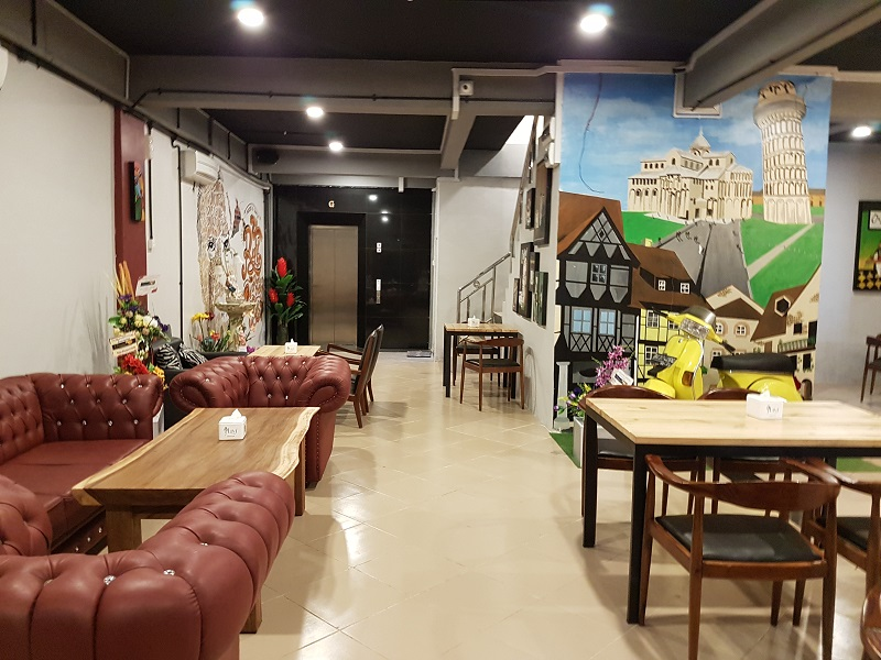 Sitting Area Ground Floor - Oregano Cafe & Bar Batam Islands Indonesia