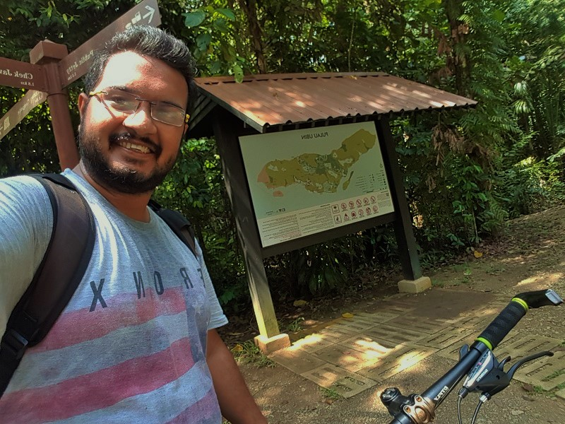 Taking break at Pulau Ubin - Detailed Guide to Pulau Ubin