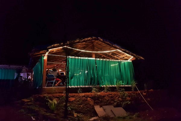 Mantra Cafe at Night - Zostel Gokarna