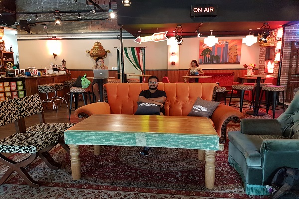 Orange Couch - Central Perk Singapore