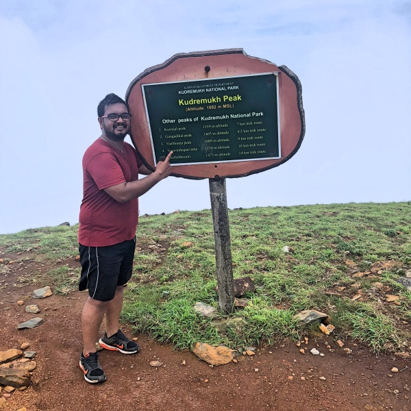 At the Kudremukh Peak - Kudremukh Trek
