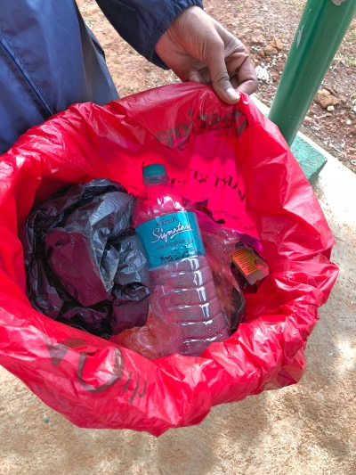Collected Garbage at Kudremukh Trail - Kudremukh Trek