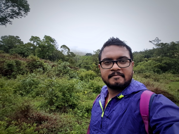Selfie before the ascent - Kudremukh Trek